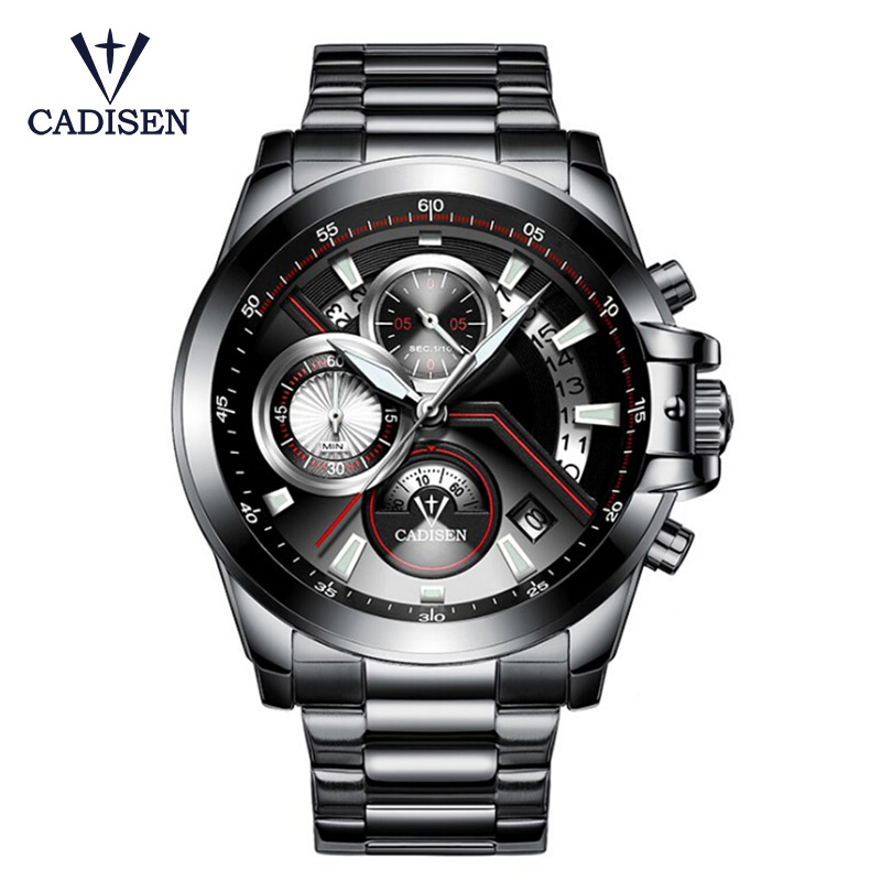 HOT 2017 CADISEN Watches Men Quartz Top Brand  Analog Military Male Watches Men Sports Army Watch Waterproof Relogio Masculino