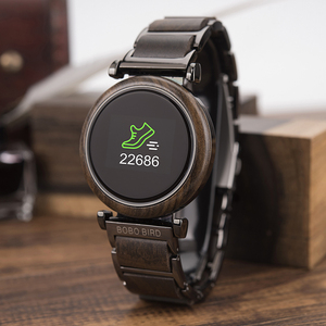 Image 2 - BOBO BIRD Touch Screen Electronic Movement Watch Wood Luxury Wristwatch Men Smart Timepiece Relogio Masculino J R27