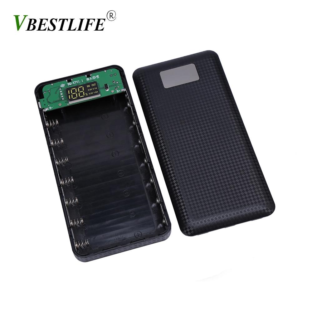 VBESTLIFE Nouveau LCD Affichage DIY puissance banque 18650 batterie holder box Protecteur Housse Portable Externe Boîte Sans Batterie