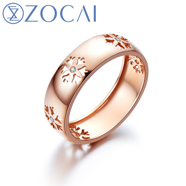 ZOCAI New Arrival ICE and FIRE Series 001 Ct Real Diamond Ring 18K