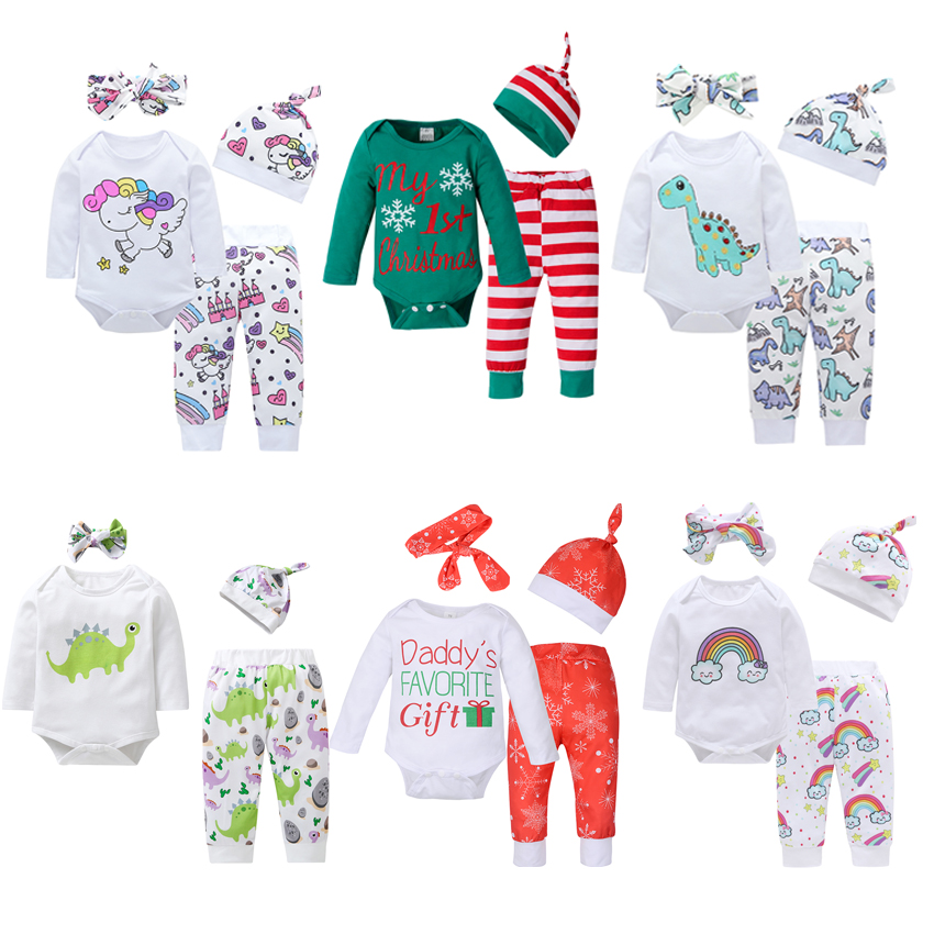 4PC Baby Clothes Sets Cap+Headband+Romper+Pants Clothing Suits Newborn Baby Autumn Clothes Baby Boys Girls Clothes Outfit Infant 2016 baby girls summer clothing sets baby girl romper suits romper tutu skirt headband infant newborn baby clothes baby romper