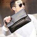 Men PU Leather Fashion Business Clutch bag Mobile Phone Case Cigarette Purse Pouch Male Handy Bag Wallet