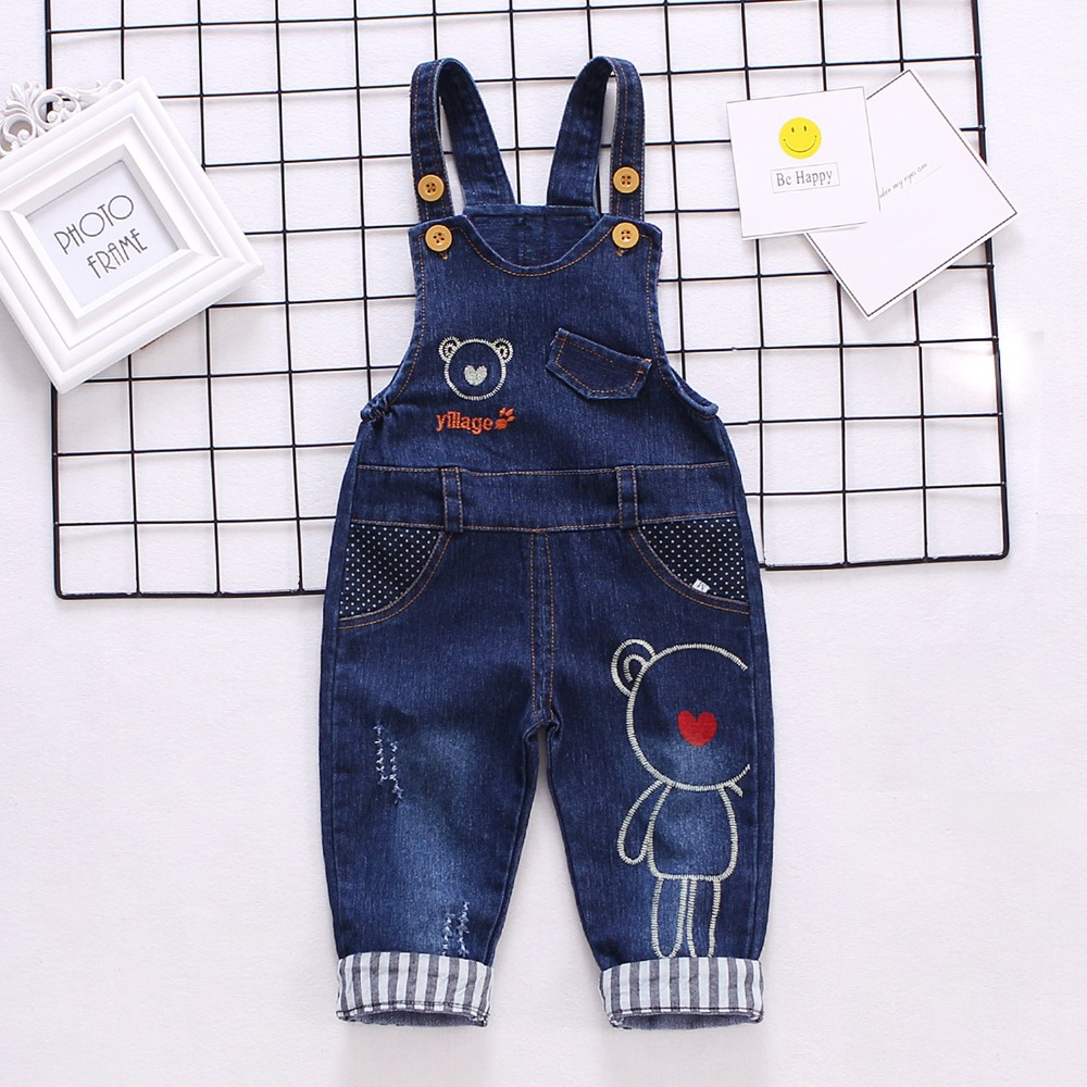 DIIMUU Infant Baby Boys Overalls Toddler Boy Clothing Casual Denim Long Pants