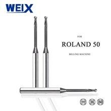 WEIX стоматологические очки с камерой, наголовные боры Roland фреза с DLC покрытием для фрезерования блок из циркония доступны 0,6 мм, 1,0 мм, 2,0 мм