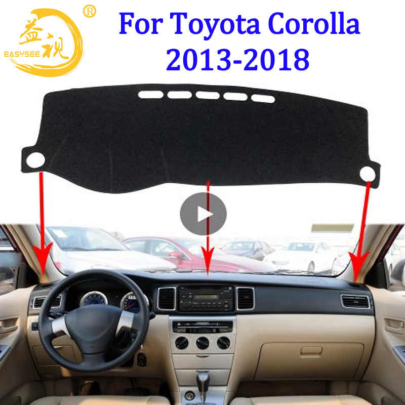Easysee Dashboard Cover Pad Dashmat Dash Mat Sun Shade Carpet dash proof For TOYOTA COROLLA 2013 2014 2015 2016 2017 2018