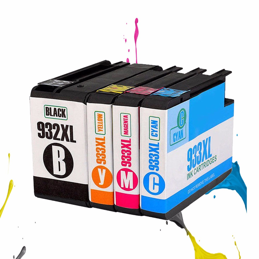 4pcs HP932XL Ink cartridge for Compatible for Officejet 6100 6600 6700 7110 7610 7612 7510