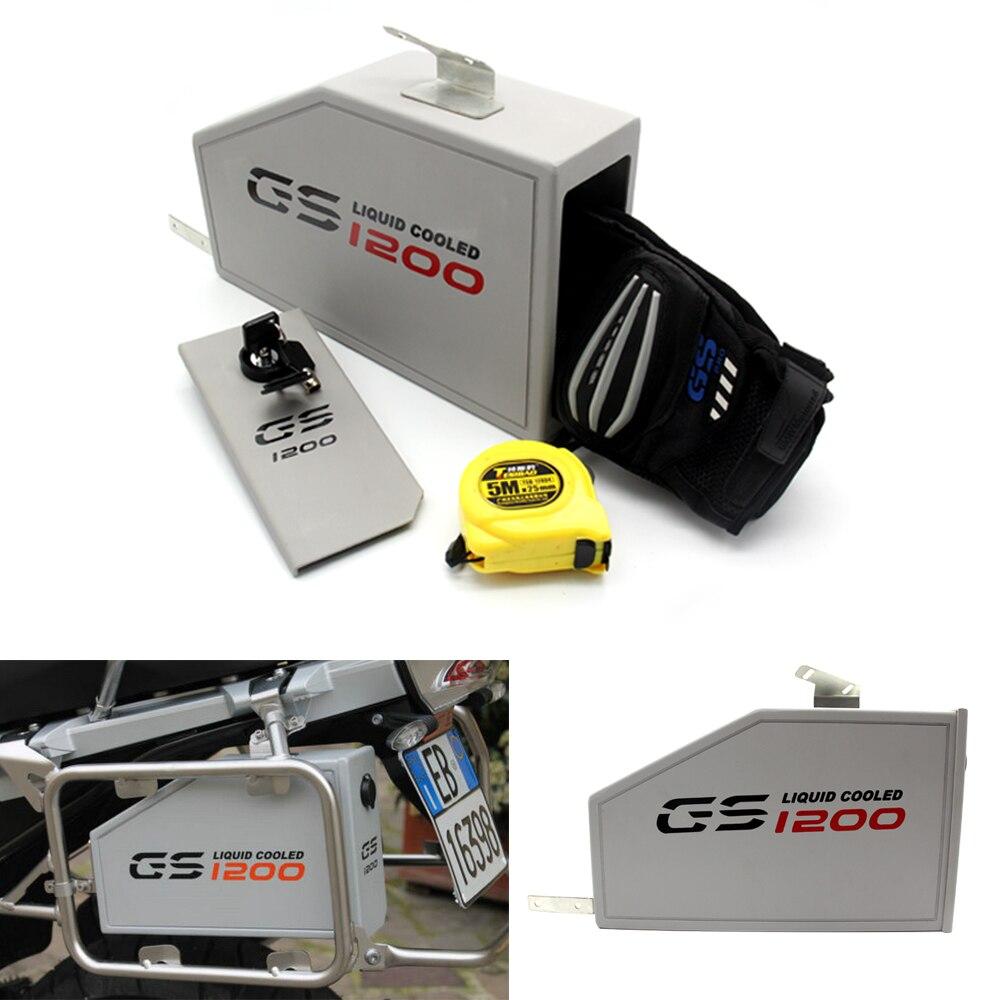 Pour BMW R1200GS LC Adventure R 1200 GS boîte à outils 2014-2018 boîte à outils décorative en aluminium boîte à outils 5 litres pour support latéral gauche 2013-18
