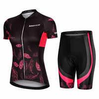Pro Frauen Radfahren Set MTB Bike Kleidung Weibliche Racing Fahrrad Kleidung Ropa Ciclismo Mädchen Zyklus Wear Racing Bib Short Pant pad