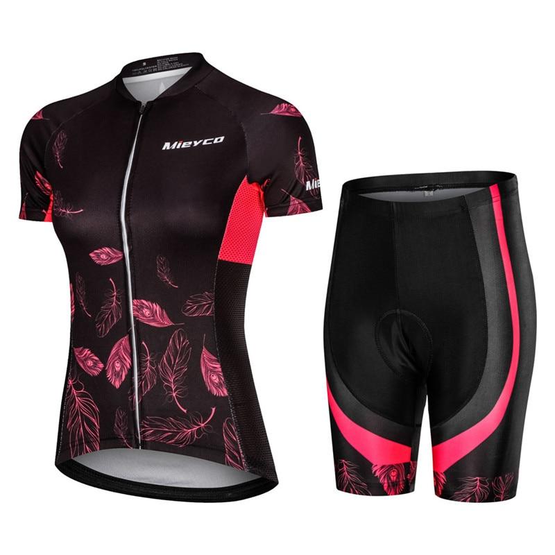 Pro Women Cycling Set MTB Bike Clothing Female Racing Bicycle Clothes Ropa Ciclismo Girl Cycle Wear Racing Bib Short Pant Pad