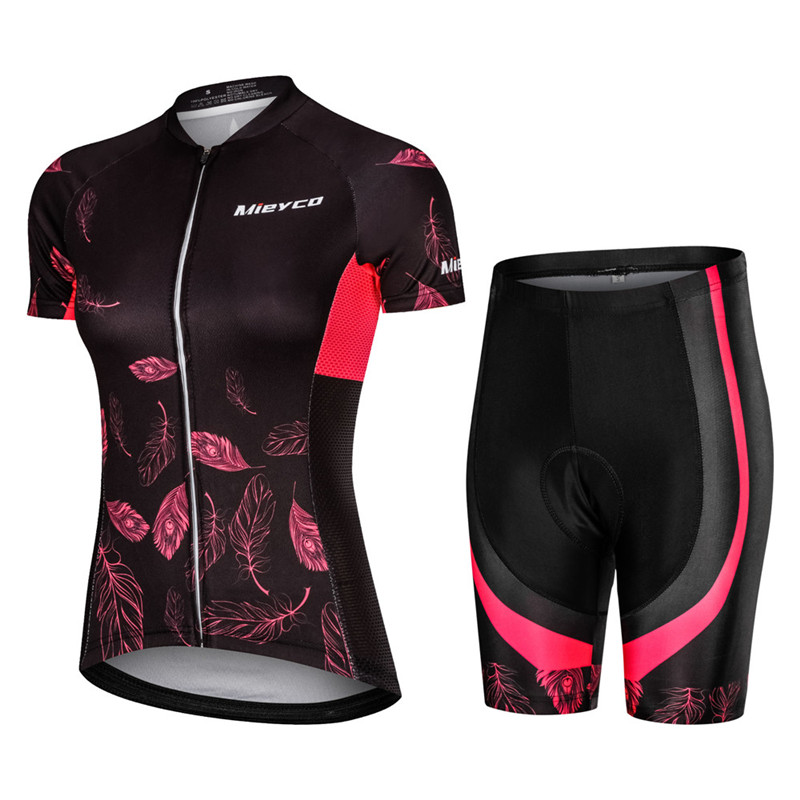 Pro Women Cycling Set MTB <font><b>Bike</b></font> Clothing Female Racing Bicycle Clothes Ropa Ciclismo Girl Cycle <font><b>Wear</b></font> Racing Bib Short Pant Pad image