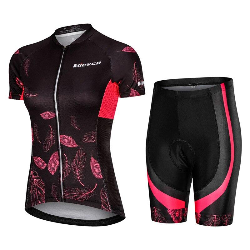 Pro kobiet zestaw rowerowy MTB odzież rowerowa kobiet wyścigi ubrania do jazdy rowerem Ropa Ciclismo dziewczyna cykl nosić wyścigi Bib krótkie spodnie Pad