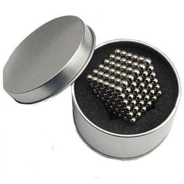 5 MM 216 unids Neo Cube cubo mágico Puzzle magnético bolas con caja de Metal