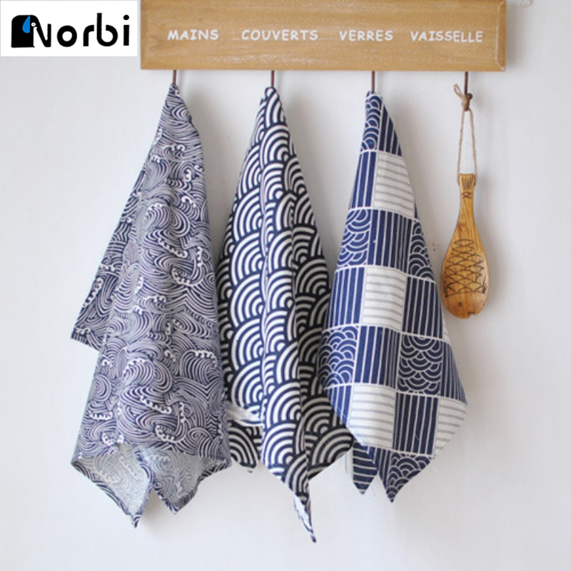 Kitchen,dining & Bar Mats & Pads Wave Japanese Meal Mat Napkin Wind Lu Cotton Cloth Home Cover Background Cloth Runner Mat Cutlery Dinner Tables Napkins Decorate Comfortable And Easy To Wear