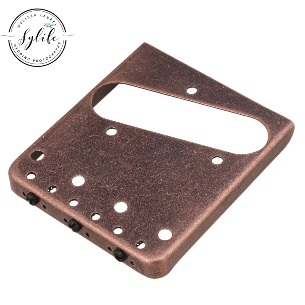 ALI shop ...  ... 32860864292 ... 2 ... 8.5x7.5x1cm 6 String Fixed Style Bridge for Electric Guitar Red Bronze ...