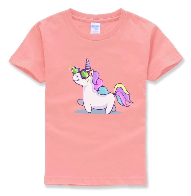 unicorn kids t shirt cotton casual funny kawaii t shirts ...
