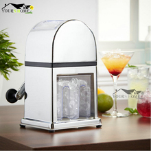 Manual Ice Crusher Machine with Stylish Mirrored Finish - Includes an Ice Tray and Scoop Bar Tool все цены