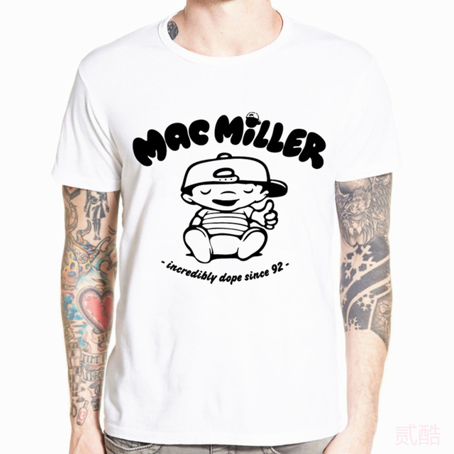 Asian Size Print Mac Miller R.I.P Rap Hip Hop Music Band T-shirt Short sleeve O-Neck T shirt For Men And Women HCP4526