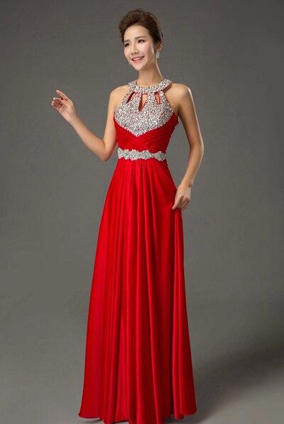 Вечернее платье,, длина до пола, сатиновые Сексуальные вечерние платья для выпускного вечера, элегантные длинные вечерние платья - Цвет: Red