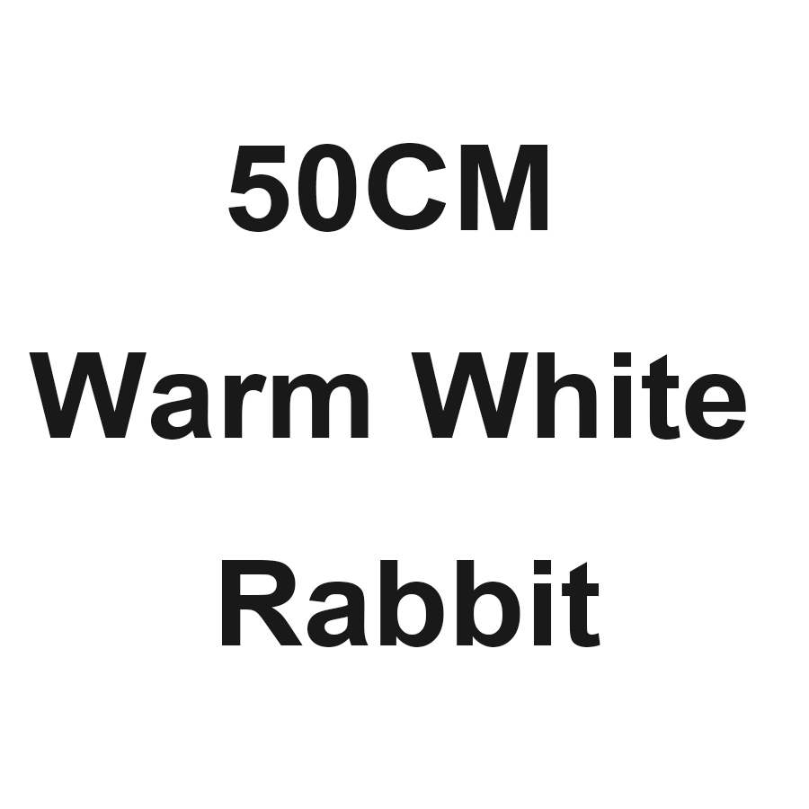 H50cm warm white rabbit