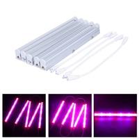 5 개 AC85-265V 15-LED SMD5630 LED 성장 성장 레드 + 455nm 블루 수경 및 온실 시스템 식물 꽃 성장 램프
