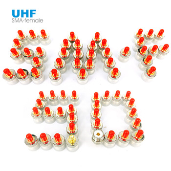 50 Pieces SMA Female to UHF Female SO239 PL259 Jack RF Coaxial Coax Connector Adapter for Car Radio Walkie Talkie Antenna