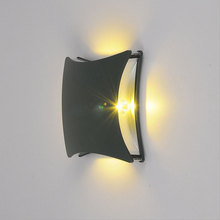 Купить с кэшбэком led garden porch lights outdoor wall lamp sconce grey lamps up and down wall mounted walkway light landscape lighting WKS-OWL42