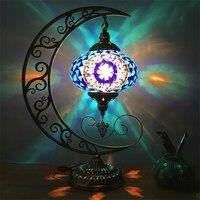 Винтажный этнический стиль Романтическая Луна украшение спальня гостиная ресторан Кафе Отель ручной работы мозаика стекло турецкий насто