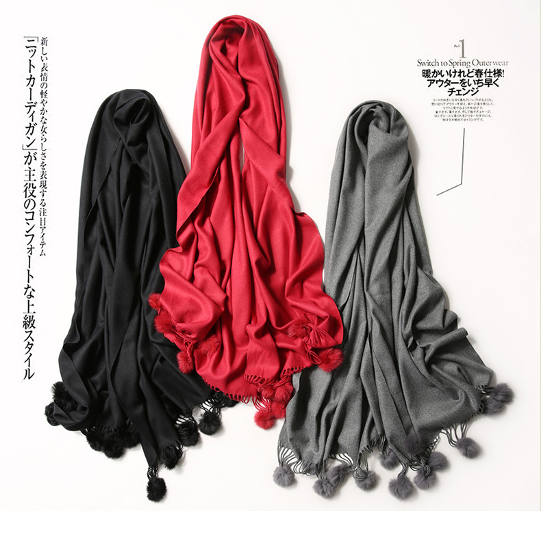 Fashion Women Scarf Winter Fall Women Scarves Long Wraps Shawls Thick Warm Cotton Cashmere Wool Pashmina Solid Womens Scarf