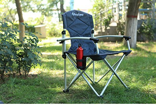 KingCamp Nineteen Inches Seat Height, Deluxe Arms Aluminum Folding  Lightweight Camping Chair With Carry Bag, Black Grey In Beach Chairs From  Furniture On ...