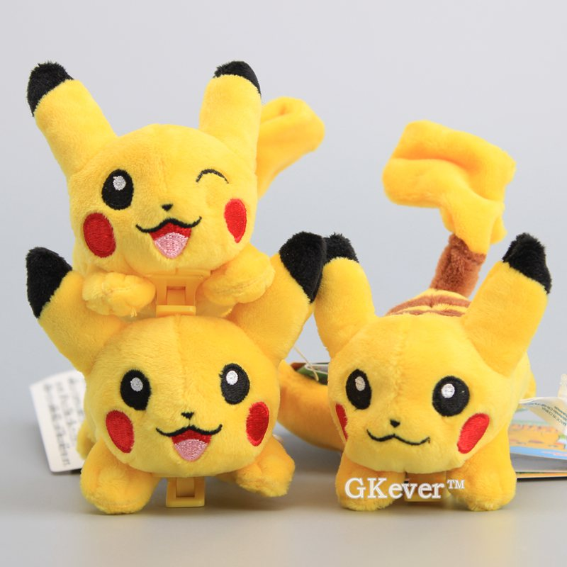 Cute Pikachu Plush Doll Pikachu Hanging Clip Soft Toy On My Shoulder Cospaly Party Toys 11 CM