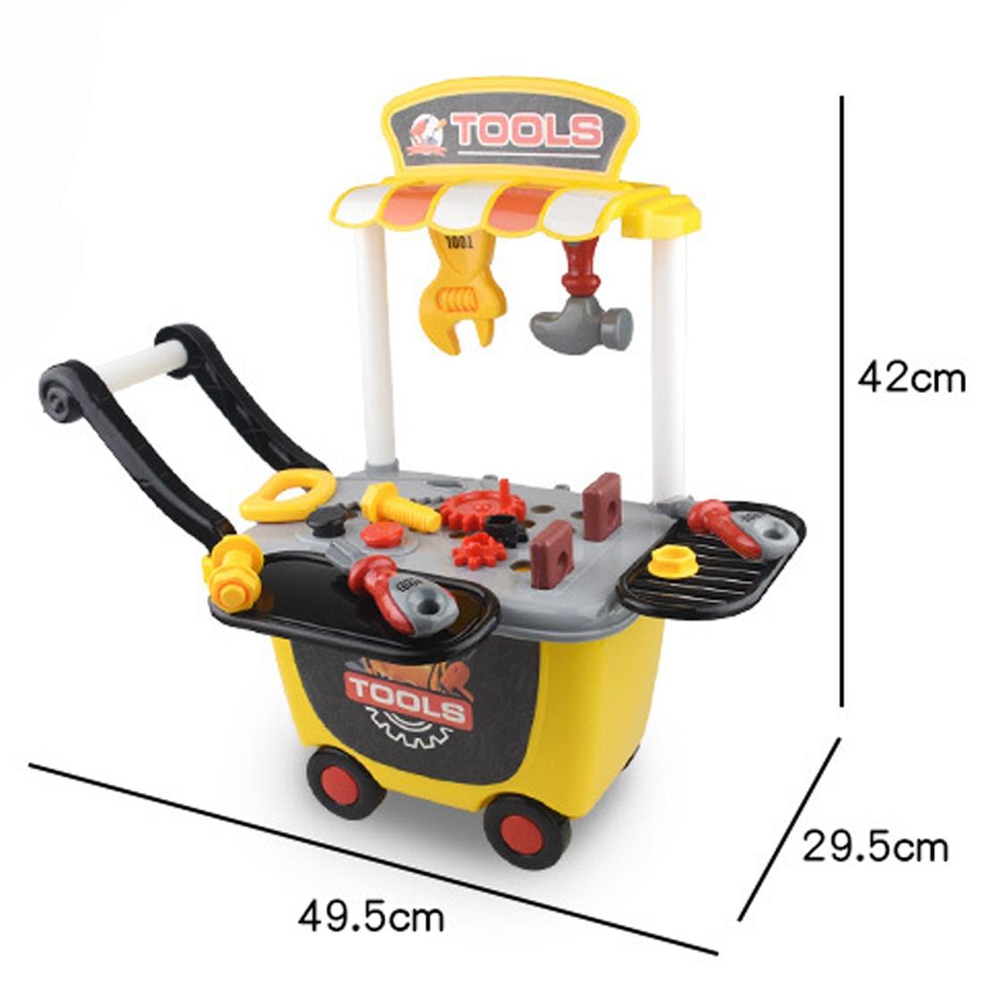 Rowsfire Children Pretend & Play Emulational DIY Trolley Repair Kit Toy Educational Tool Box For Kids