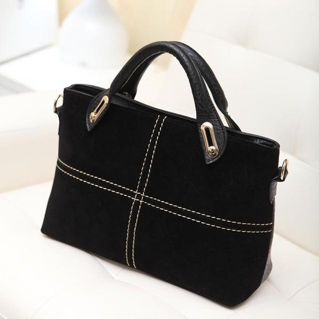Free shipping New 2016 Handbags Vintage Classic Leather Women Handbag Red Totes Women Messenger Bags Shoulder Bag