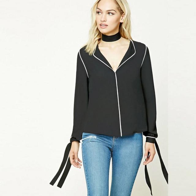 af6959b6b00 6XL New Fashion 2017 Spring Summer Women Long Sleeve Cool Black Chiffon  Shirts Plus Size Novelty Tops Casual Women Shirt