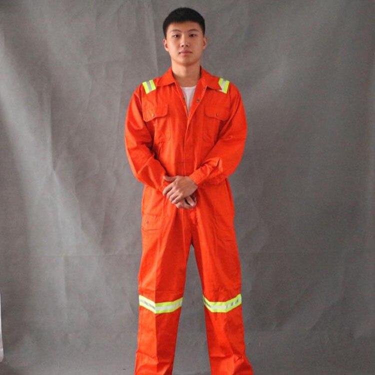 Oranž tööülikond helkuritega