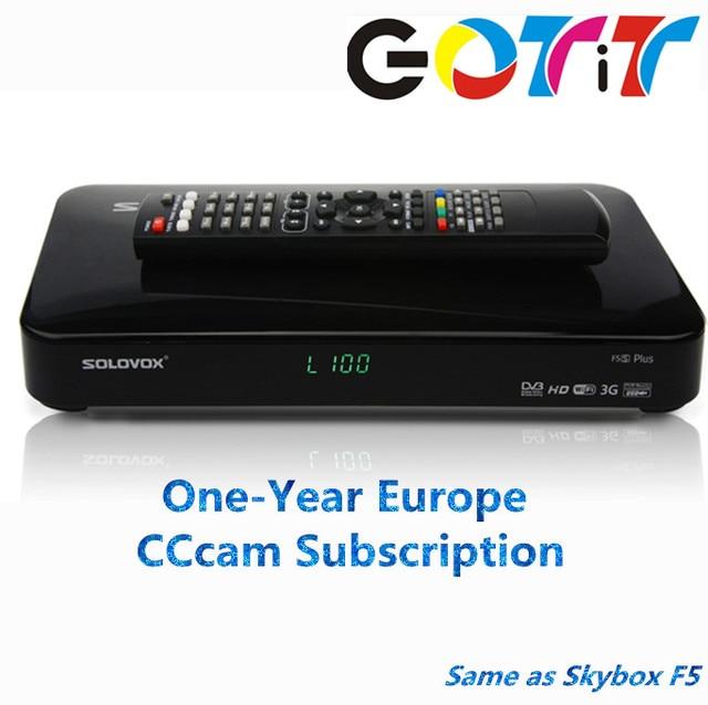 GOTiT SOLOVOX F5S Plus with 1 year Europe CCCAM Subscription Satellite Decoder DVB-S2 Receiver Better than Freesat V7 V8 Super