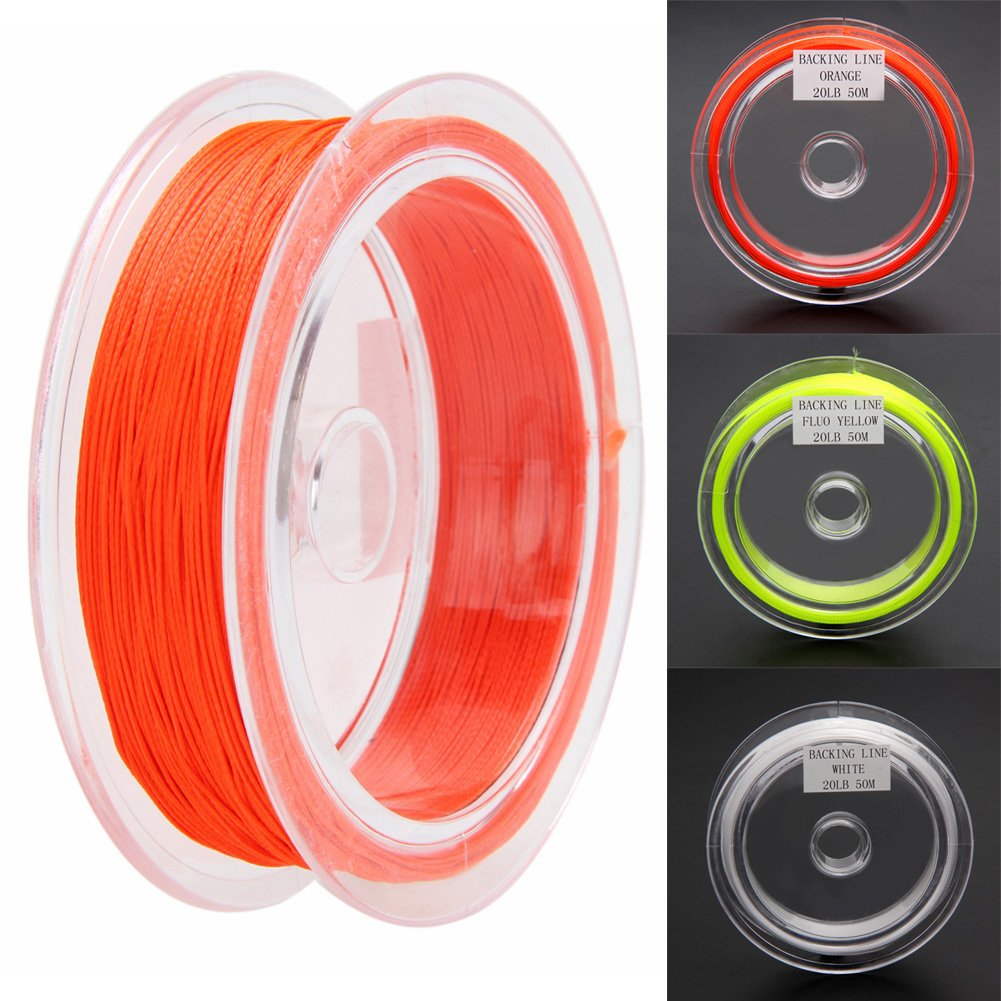 1PC Fly Line 50M 20LB Braided Line Fly Line Yellow/Orange/White ...