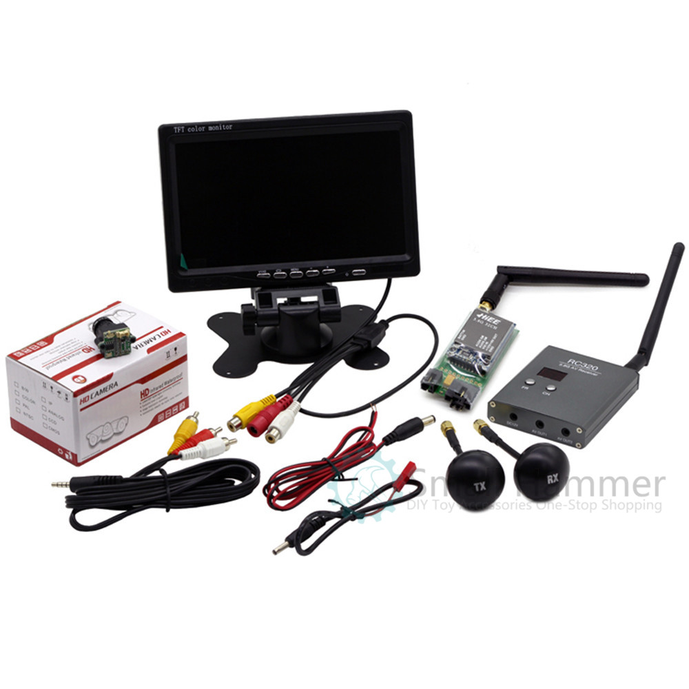 FPV Set 7-inch Snow Display TS3206+RC320 Picture Transmission Hd Camera