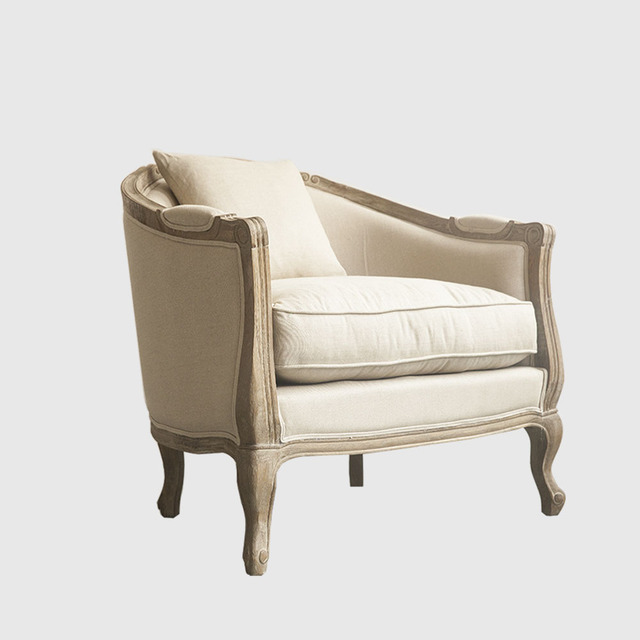The Preferred Source Of Wood Off The Model Room French Country European  American Wood Sofa Linen