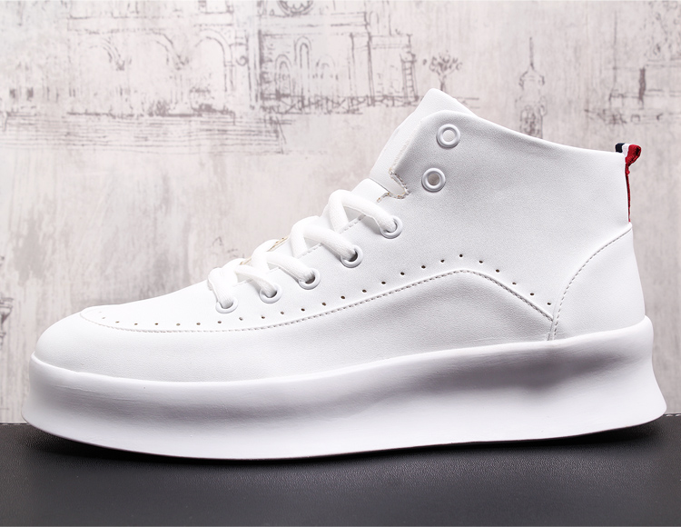 Autumn New Casual Shoes Mens Leather Flats Lace-Up Shoes Simple Stylish Male Shoes Oxford Shoes For Men Sneakers