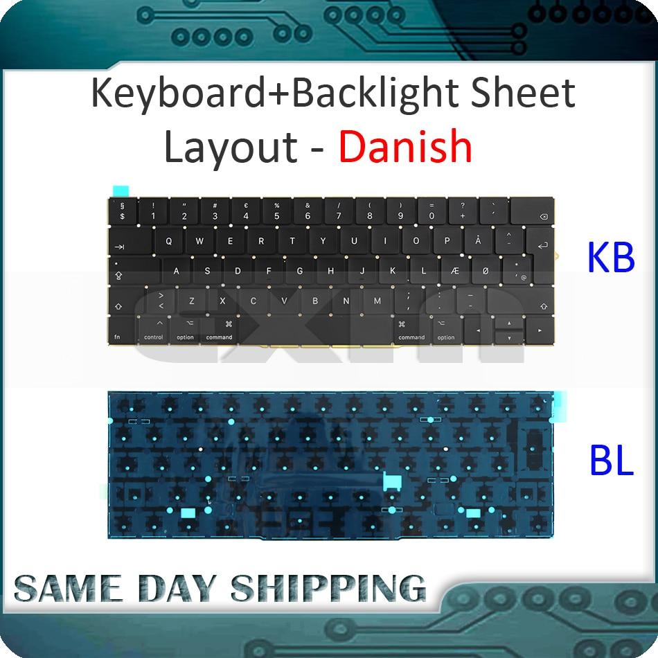 New for MacBook Pro 13.3 Retina A1706 Denish Danish Keyboard DK Danish EU EURO w Backlight Backlit 2016 2017 Year new laptop a1706 keyboard italian eu for macbook pro 13 3 retina a1706 italian italy ita keyboard uero 2016 2017 year