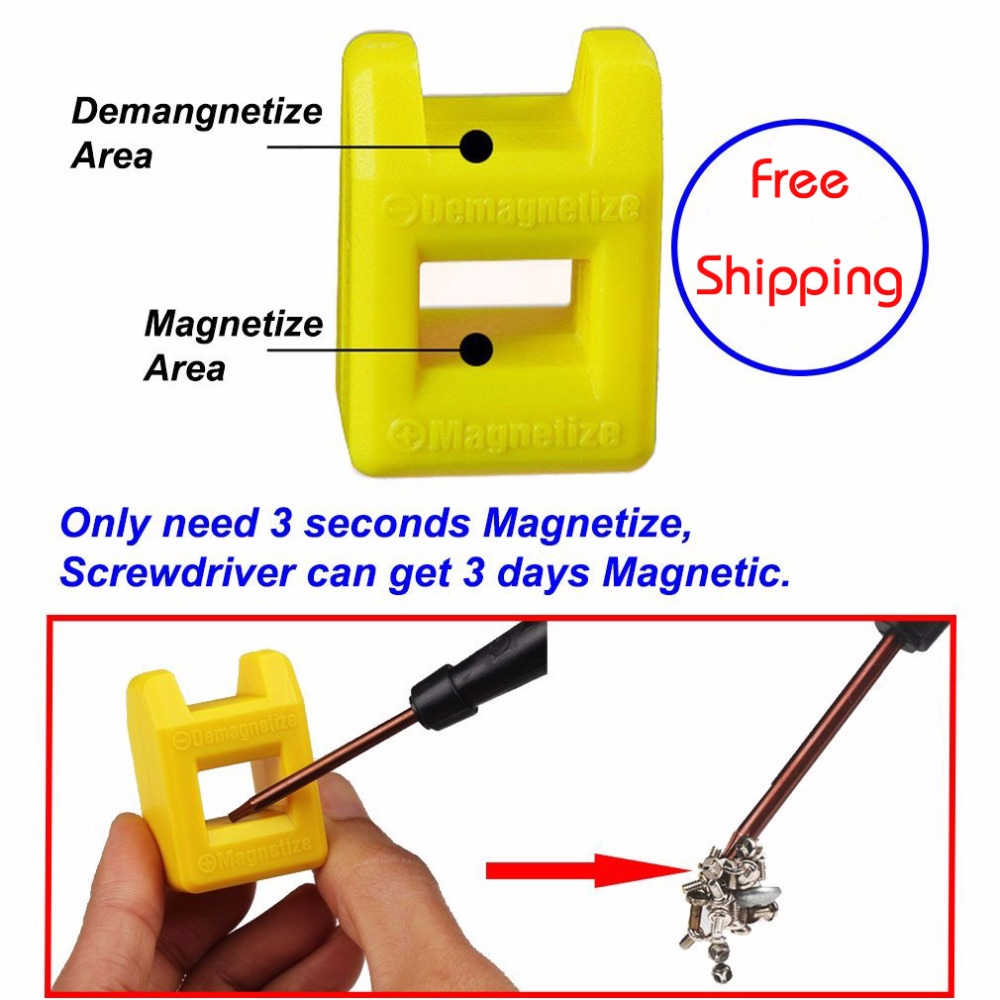 Free Shipping  Magnetize For Screwdriver Plus Porcelain Degaussing Degaussing Minus Porcelain Disassemble Charge Sheet