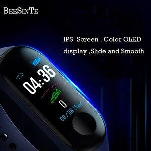 Image 3 - Bracelet intelligent Fitnesstracker Bracelet intelligent avec moniteur de fréquence cardiaque pression artérielle écran tactile coloré appel à message instantané