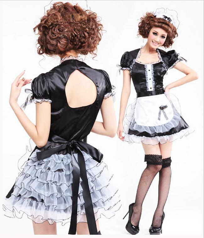 Biancheria Intima Halloween francese cameriera Cosplay Party Costume Outfit