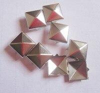 Envío libre! 700 unids 10mm color plata remache del metal Square Stud punk espigas Remaches moda DIY artesanía de cuero