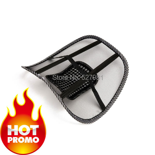 Free Shipping 2014 Hot  Care Car Seat Chair Massage Relaxation Back Lumbar Support Mesh Ventilate Cushion Pad Black/Massager-1