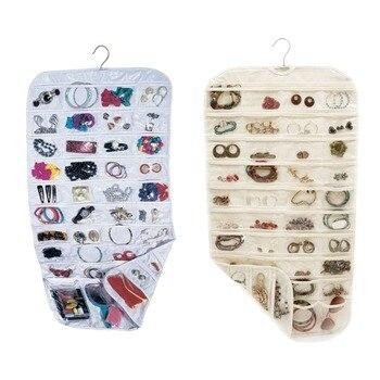 80 bolsos de armazenamento pendurado bolso jóias brinco organizador titular gadgets cartão segurando saco