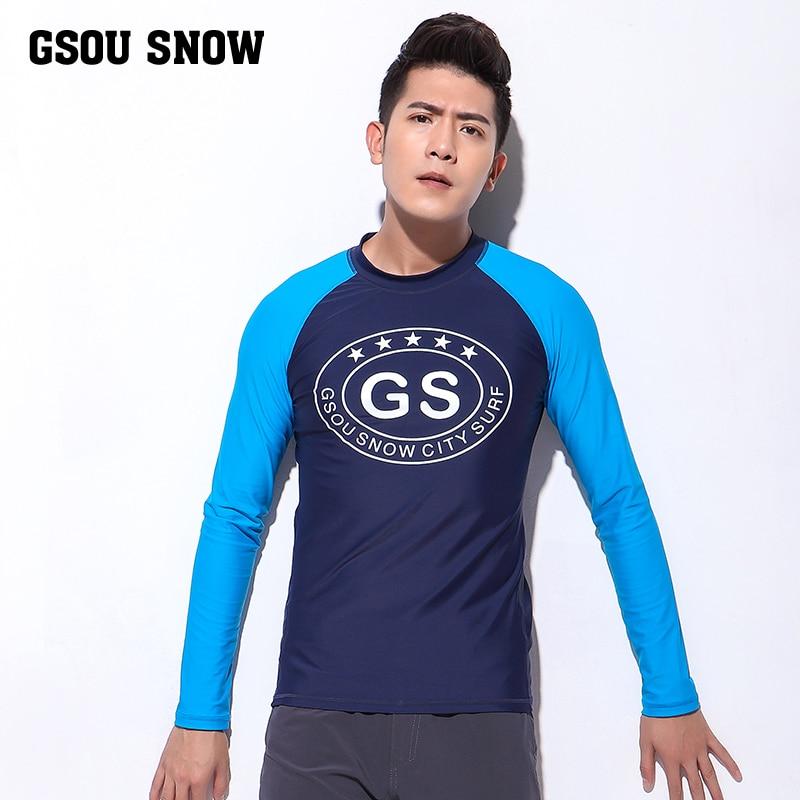 GS Mens Long Sleeve Rashguard UPF 50+ Swimwear Rash Guard Athletic Tops UV Sun Protection Rash Guards Diving Swim Surf Shirts rashguard mergulho rashguard a808