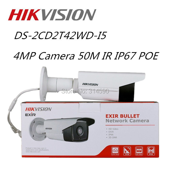 Hikvision Original English 4MP POE IP camera IR 50m IPC web cam DS-2CD2T42WD-I5 Replace DS-2CD3T45-I5  Security Camera hikvision 4mp onvif ipc ip poe outdoor dome camera web webcam cam ds 2cd2342wd i replace ds 2cd2332 i ds 2cd3345 i ds 2cd2345 i