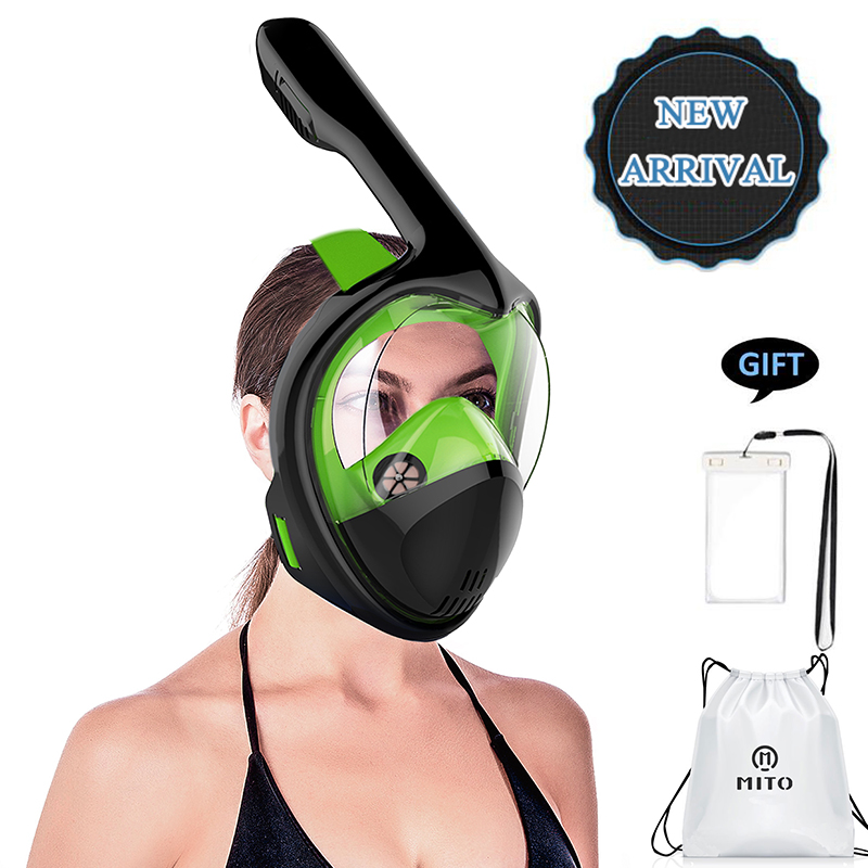 2018New Anti Fog Diving Mask Snorkel Swimming Training Scuba mergulho 2 In 1 full face snorkeling mask Gopro Camera Dropshipping