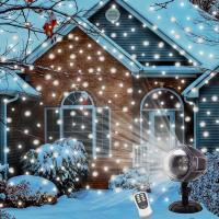 6W LED Snowfall Projector Lights Light Rotating Spotlight Outdoor Indoor Landscape Decorative Lighting with Remote Control
